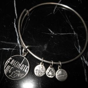 Alex And Ani Fascinate Me With Love Charm Silver B